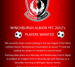 2012 PLAYERS WANTED